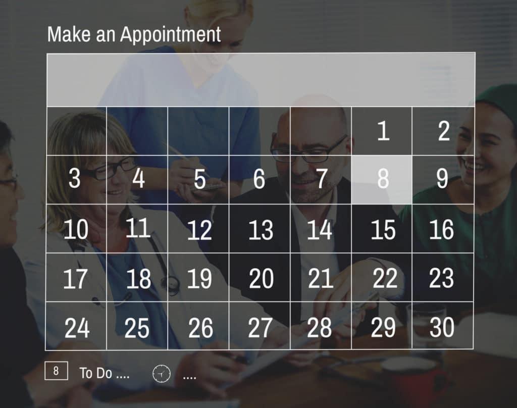 'Make an Appointment' calendar